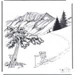 Зимние раскраски - Снег в Йеллоу Стоун 2