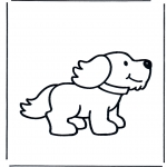 Раскраски с животными - Собака 1