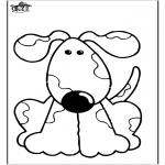 Раскраски с животными - Собака 10