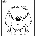 Раскраски с животными - Собака 11