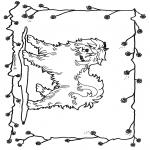 Раскраски с животными - Собака 2