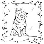 Раскраски с животными - Собака 4