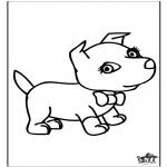 Раскраски с животными - Собака 6