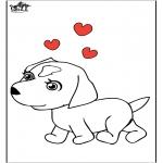 Раскраски с животными - Собака 7