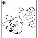 Раскраски с животными - Собака 8