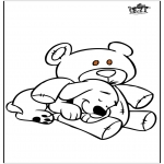 Раскраски с животными - Собака и Медвежьи
