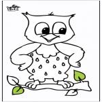 Раскраски с животными - сова