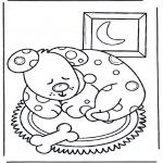 Раскраски с животными - Спящая собака