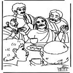 Раскраски по Библии - Тайная вечеря