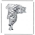 Раскраски с животными - Тигр 1