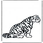 Раскраски с животными - Тигр 2
