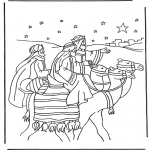 Раскраски по Библии - Три мудреца 1