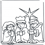Раскраски по Библии - Три мудреца 2