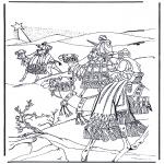 Раскраски по Библии - Три мудреца с Востока 1