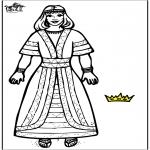 Раскраски по Библии - Царица Есфирь 2