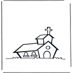 Раскраски по Библии - Церковь 1