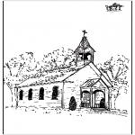 Раскраски по Библии - Церковь 2
