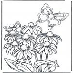 Разнообразные - Цветок и бабочки