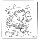 Персонажи комиксов - Твити в ванной