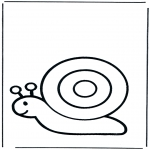 Раскраски с животными - Улитка 1