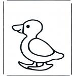Раскраски с животными - Утка 1