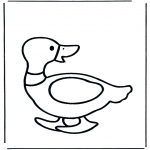 Раскраски с животными - Утка 2