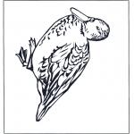Раскраски с животными - Утка 4
