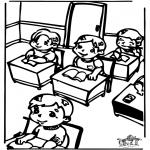 Детские раскраски - В классе 2