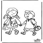Детские раскраски - В школу 3