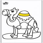 Раскраски с животными - верблюд 2