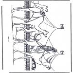 Раскраски с животными - Верблюды