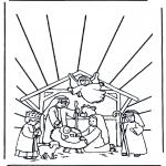 Раскраски по Библии - Вертепная драма 1