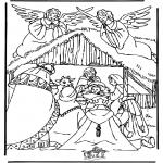 Раскраски по Библии - Вертепная драма 3