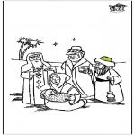 Раскраски по Библии - Вертепная драма 4