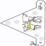 Рождественские раскраски - Вертепная драма - флаг