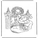 Персонажи комиксов - Винни Пух - Дед Мороз