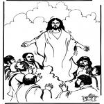 Раскраски по Библии - Вознесение Господне 1