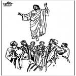 Раскраски по Библии - Вознесение Господне 2