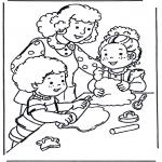 Детские раскраски - Выпечка