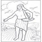 Раскраски по Библии - Вышел сеятель сеять