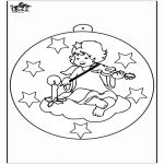 Рождественские раскраски - Ёлочный шар - Ангел 1