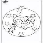 Рождественские раскраски - Ёлочный шар - Ангел 2