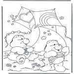 Детские раскраски - Заботливые мишки 1