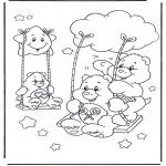 Детские раскраски - Заботливые мишки 13