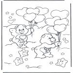 Детские раскраски - Заботливые мишки 15