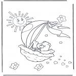 Детские раскраски - Заботливые мишки  2