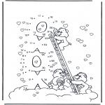 Детские раскраски - Заботливые мишки 3