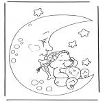Детские раскраски - Заботливые мишки 4