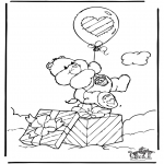 Детские раскраски - Заботливые мишки 5