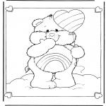 Детские раскраски - Заботливые мишки 6